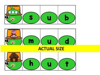 Buggy CVC- Caterpillar Link or Build CVC Words- Spring Literacy Centre