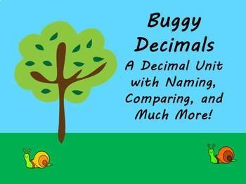Buggy Decimals! A Place Value Unit through the Thousandths Place!