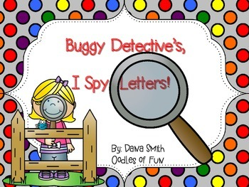 Buggy Detective's - I Spy Letters!