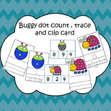 Counting dot bugs Trace, Write task cards and clip cards s