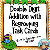 Double Digit Addition with Regrouping Task Cards