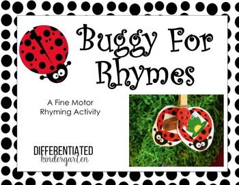 Buggy For Rhyming- A Fine Motor Phonemic Awareness Activity.