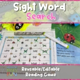 Buggy Garden Sight Word Find - Use With Any Book- Editable