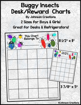 Buggy Insects Desk/Reward Charts