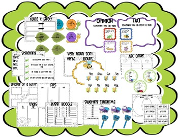 Buggy Literacy Centers and Activities