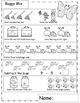 Buggy Math Worksheets, Bug Theme, Insect Theme, Great For