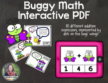 Buggy Math Counting Bugs Clip Cards AND Interactive PDF Game