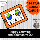 Counting and Addition to 20, Digital BOOM Cards Bugs