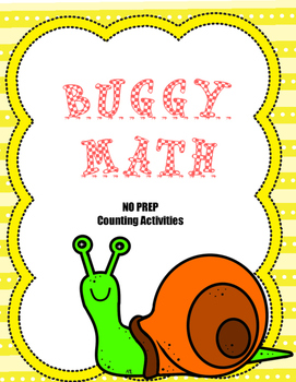 Buggy Math - No Prep Counting Activities