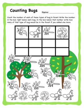 Buggy Math - No Prep Counting Activities