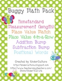 Buggy Math Pack - Measurement, Place Value, Addition, Subtraction, Pos. Words