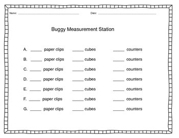 Buggy Measurement Math Tub