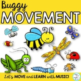 Buggy Movement Activity Posters, Cards, Presentation for Freeze Dance Activities