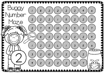 Buggy Numbers to 10 - Collection of Activities