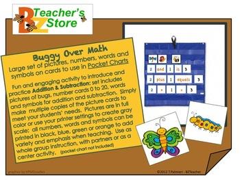 Buggy Over Math Pocket Chart Set