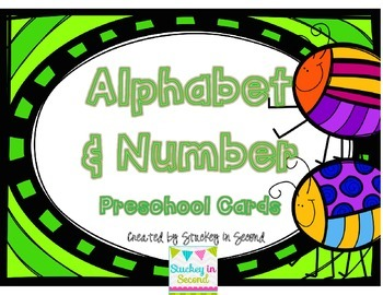 {$1 Deal} Buggy Preschool Cards (Letters & Numbers)