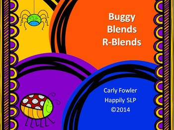 Buggy R-Blends- Articulation, Phonology, Apraxia and Speech Therapy