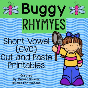 Buggy Rhymes {CVC Cut & Paste Worksheets}