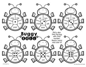 Buggy Roll {CVC, Digraphs & Blends}