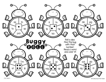 Buggy Roll {CVC, Digraphs & Blends}