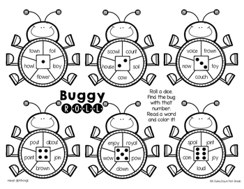 Buggy Roll {vowel teams & diphthongs!}