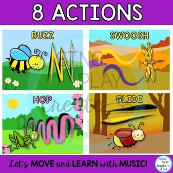Buggy Scarf Activities for Preschool, Music Class, P.E. Movement Activities