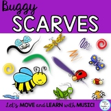 Buggy Scarf Activities for Preschool, Music Class, P.E. Movement Activities
