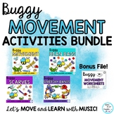 Buggy Scarf, Freeze Dance, BeanBag, Stretchy Band and Move