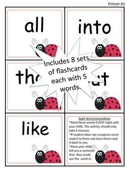 Buggy Sight Word Intervention Plan