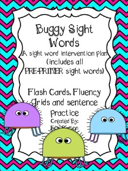 Buggy Sight Word Intervention - Pre-Primer Words