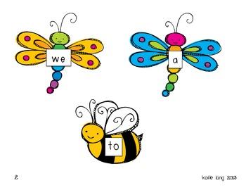 Buggy Sight Words for Posting Kindergarten Word List
