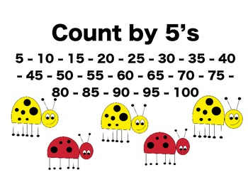 Buggy Skip Counting Posters