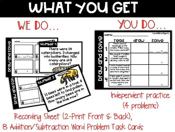 Buggy Solve and Draw Word Problems (to 20)