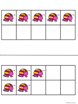 Buggy Themed Classroom Numbers Poster Set w/Ten Frames, Activities, & Flashcards