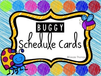 Buggy Themed Schedule Cards (Editable)