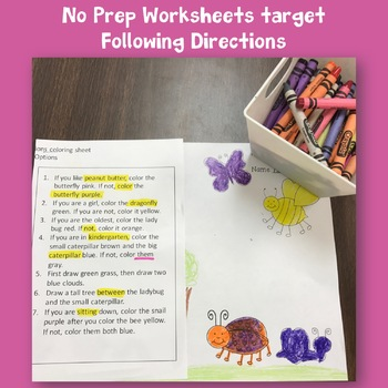 Bug Themed Language Activities for Speech Therapy