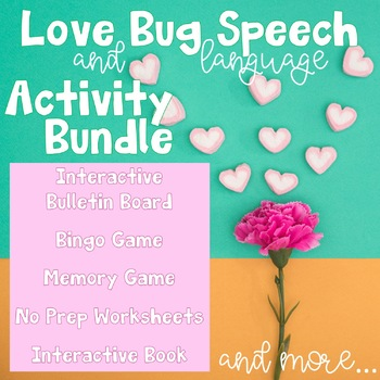 Buggy Valentine Bundle for Speech Therapy