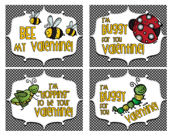 Buggy Valentine Card Set