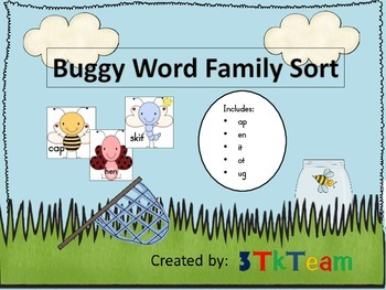 Buggy Word Family Sort
