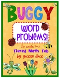 Buggy Word Problems Tiered Math Tub
