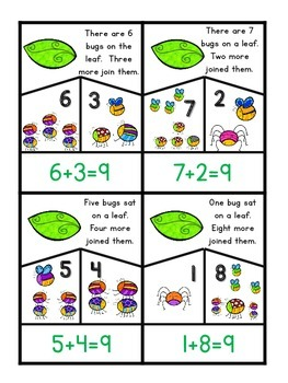 Addition Word Problems; puzzles for centers