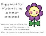 Buggy Word Sort - Sounds of -ea