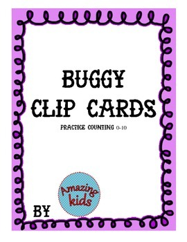 Buggy clip cards Counting - FREE