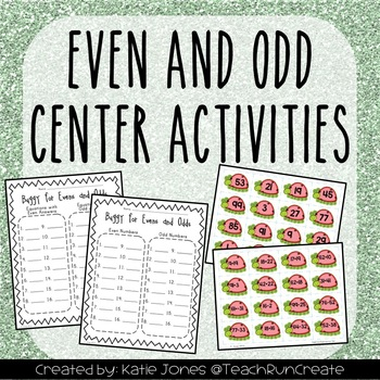 Even and Odds Center Activity