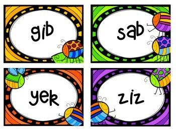 Buggy for Nonsense Words Fluency Game
