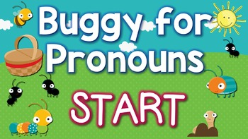 Buggy for Pronouns Jeopardy Style Game Show