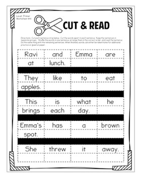 Fluency Passages Bundle Preprimer Primer First Level