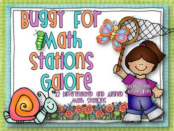 Buggy for Spring Math Stations Galore-12 Differentiated And Aligned Stations