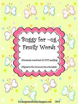 Buggy for -ug Family Words