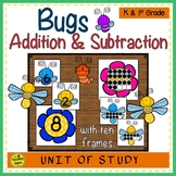 Bugs 2 Addend Addition & Subtraction With Ten Frames